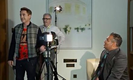 Iron Man star Robert Downey walks exits his Channel 4 News interview with Krishnan Guru-Murthy